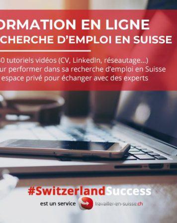 Tutoriels en ligne - emploi en Suisse