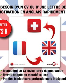traduction CV lettre de motivation en anglais