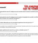 """capture d'écran 1 du """"Swiss CV tester"""""""