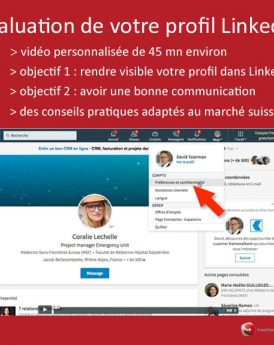 Evaluation de profil Linkedin pour la Suisse