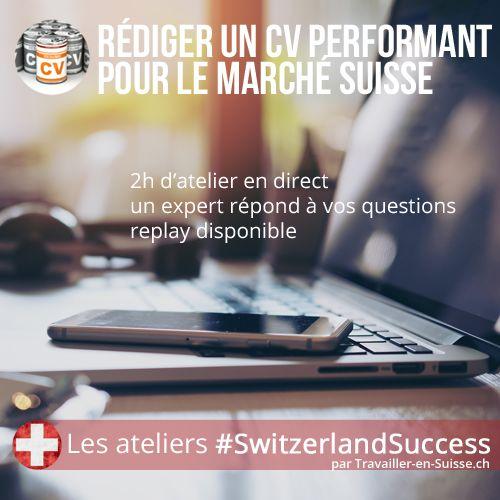 atelier emploi  u0026quot r u00e9diger un cv performant pour la suisse